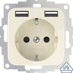 2USB 2U-449399 Unterputz-Steckdose mit USB Creme-Weiß