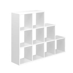 Vicco Regal TreppenRaumteiler Bücher9 Fächer weiß StufenStufenregal