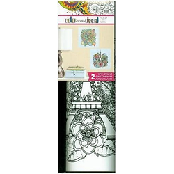 Color Your Decal - Blumen Eiffelturm
