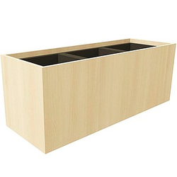 fm Plant Pflanzkübel Holz 106,2 x 38,0 x 40,0 cm ahorn