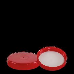 Schraubverschluss - rot - DIN 80 Gewinde