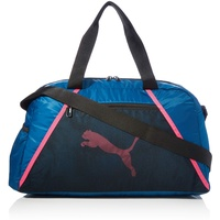 Puma at ESS Grip Sporttasche, Digi-Blue Black-Luminous Pink,