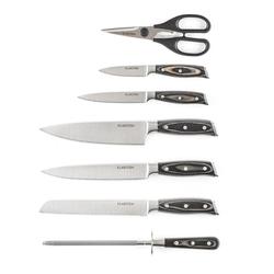 Katana 8 Messerset 8-teilig Schere Wetzstahl Messerblock