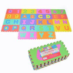 Puzzlematte mit Zahlen und Buchstaben Puzzlestar ABC/123 bunt