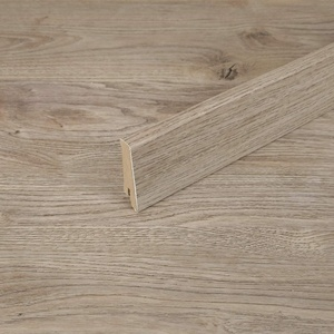 TRECOR Vinyl-/LVT Klick Vinyl-Designboden Massivdiele 6,5 mm stark mit 0,5 mm Nutzschicht inclusive Trittschall - WASSERFEST -Sie kaufen 1 m2 (Sockelleiste | 240 cm, Eiche Premium Sand)