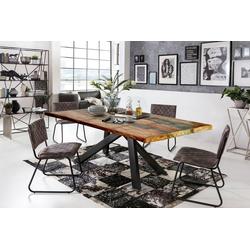 SIT Esstisch Tops&Tables, mit bunter Altholzplatte, Shabby Chic, Vintage bunt 180 cm x 74 cm x 100 cm