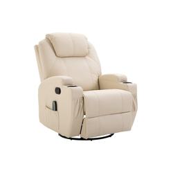 HOMCOM Massagesessel TV Sessel mit Massage- und Wärmefunktion weiß
