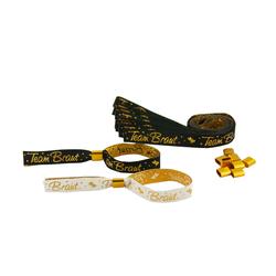 JGA Armbänder Set 1x Braut - 9x Team Braut Junggesellinnenabschied schwarz weiß gold