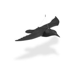 relaxdays Gartenfigur Taubenschreck Krähe fliegend