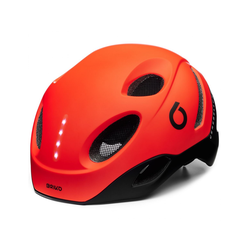 Briko Fahrradhelm E-One LED, red Fahrradhelmgröße - M,