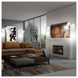 etc-shop Wandstrahler, 4er Set Wand Strahler Arbeits Wohn Zimmer Lampen Lese Leuchten Strahler Spots verstellbar