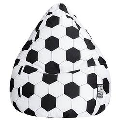 SITTING POINT BeanBag Fussball XL Sitzsack schwarz