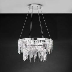 Kristall LED Hängelampe Antelao 5800lm Chrom, Klar