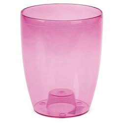 matches21 HOME & HOBBY Blumentopf Orchideentopf & Steg Übertopf Kunststoff pink klar Ø 13 cm (1 Stück) rosa