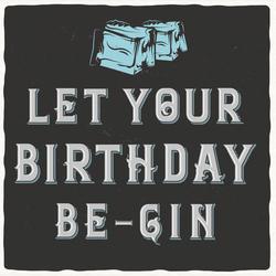 Gin Geburtstagskarte No.2