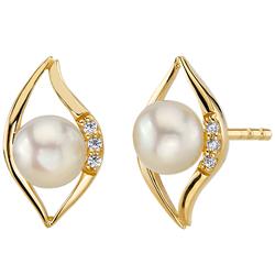 Elegante Ohrringe mit Perlen und Zirkonia Rochelle
