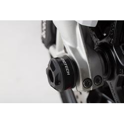 SW-Motech Sturzpad-Kit für Vorderachse - Schwarz. BMW F800R / R1200 / R1250 / S1000XR., schwarz