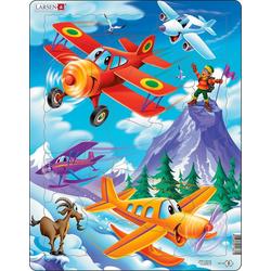 Larsen Puzzle Rahmen-Puzzle, 20 Teile, 36x28 cm, Flugzeuge, Puzzleteile