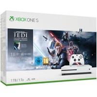 Microsoft Xbox One S 1TB weiß + Star Wars Jedi (1 Monat Xbox Game Pass Probemitgliedschaft)