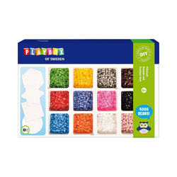 Playbox Bügelperlen Bügelperlen-Set, 4.000 Perlen