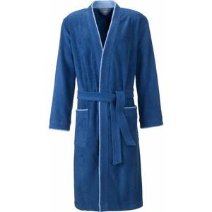 Herrenbademantel Nico, Egeria, mit Kimono-Kragen blau M - 120 cm