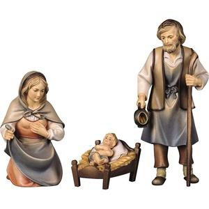 ULPE WOODART Krippenfigur Hl. Familie (Set, 3 Stück), Handarbeit, hochwertige Holzschnitzkunst bunt H: 10 cm