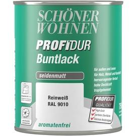 SCHÖNER WOHNEN Profidur Buntlack 750 ml RAL 9010 reinweiß seidenmatt