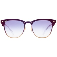 Ray Ban Blaze Clubmaster RB3576N gold / blue gradient flash