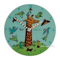 NEXTIME Wanduhr Wanduhr Kinderzimmer Kinderzimmeruhr Kinder Uhr Giraffe Joy 30cm Nextime 8811