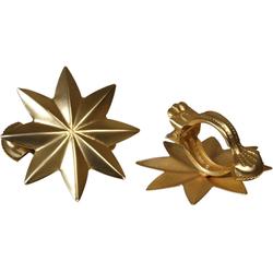 Dekoklammer Stern, Liedeco, Gardinen, Vorhänge, (Packung, 2-St), für Gardinen, Vorhänge goldfarben