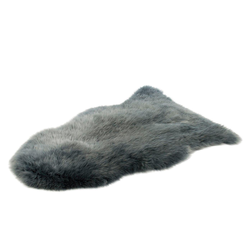 Fellteppich Schaffell Teppich, Gözze, fellförmig, Höhe 50 mm, echtes Schaffell, Wohnzimmer grau