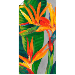 Artland Wandbild Paradiesvogel II, Pflanzen (1 Stück) 50 cm x 100 cm
