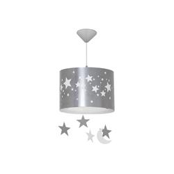 Licht-Erlebnisse Pendelleuchte ILKA Hängeleuchte Grau Weiß Sterne Jungen Mädchen Kinderzimmer Lampe