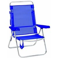BEST Freizeitmöbel Campingstuhl Ocean silber/blau 2er Set (93220024)