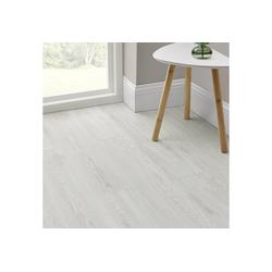 neu.holz Vinylboden, Mons Vinyl Laminat Bodenbelag Dekor-Dielen Selbstklebend ca. 4m² White Oak weiß