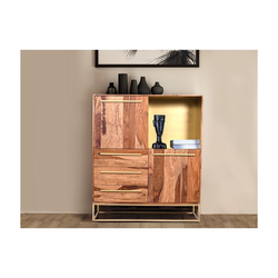 Highboard OREGAN - 2 Türen & 3 Schubladen - Sheeshamholz