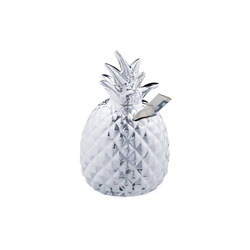relaxdays Spardose Spardose Ananas in Silber