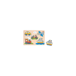 goki Steckpuzzle Soundpuzzle Fahrzeuge, Puzzleteile