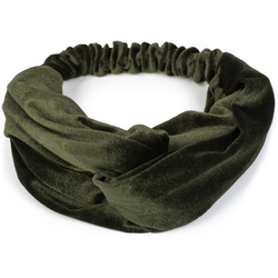 styleBREAKER Haarband Haarband Samt mit Twist Knoten, 1-tlg., Haarband Samt mit Twist Knoten gr�n