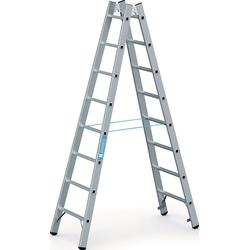 Stehleiter 2 x 16 Sprossen Aluminium Leiterlänge 4580 mm Arbeitshöhe bis ca. 5650 mm