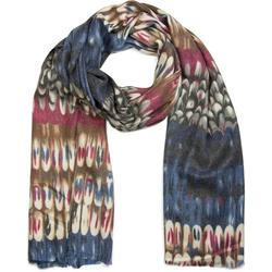 styleBREAKER Schal Schal mit Schuppen Muster Schal mit Schuppen Muster blau