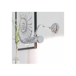 Licht-Erlebnisse Bilderleuchte APPLIQUE QUADRO Bilderleuchte Chrom Landhaus Wandlampe Innen exklusiv Lampe