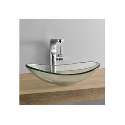 neu.haus Aufsatzwaschbecken, Bodø Waschbecken aus Glas oval