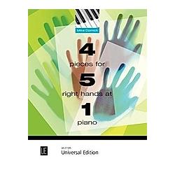 4 Pieces for 5 Right Hands at 1 Piano  für Klavier zu 5 rechten Händen an einem Klavier. Mike Cornick  - Buch