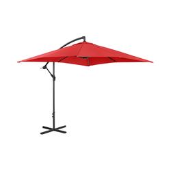 Ampelschirm - rot - rechteckig - 250 x 250 cm - neigbar