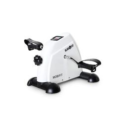 KLARFIT Fahrradtrainer Minibike 2G Heimtrainer für Bein und Oberarm bis 100kg weiß weiß