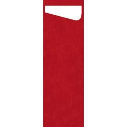 DUNI Sacchetto Serviettentaschen Airlaid SLIM, Praktische Bestecktasche, 1 Karton = 4 x 60 Stück = 240 Stück, rot