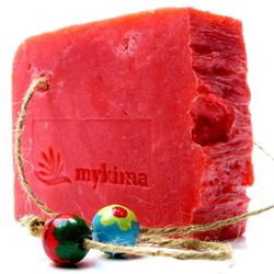 mykima - Kaltgerührte Schafmilchseife - Granatapfel - 150 g