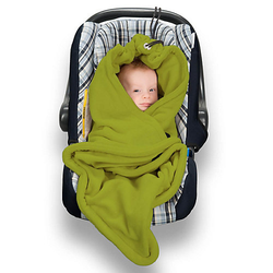 Einschlagdecke Babydecke aus Fleece grün