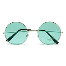 Hippie Brille John Lennon Retro Sonnenbrille Herren Damen 60er 70er Jahre Party Fasching Karneval - grün